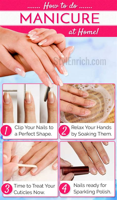 how to do manicure at home step by step stylenrich