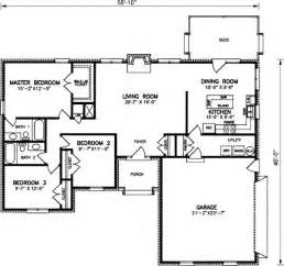 3 Bedroom 2 Bath Ranch Floor Plans by Simple House Layout Housing Decor Pinterest House