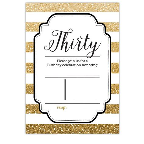 30th invite template free printable 30th birthday invitations bagvania free