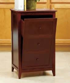 trash can cabinet walnut kitchen and furniture storage on