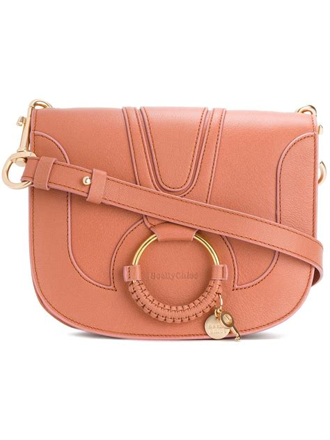 hana bag andrya bag pink see by chlo 233 hana crossbody bag in pink save 31 lyst