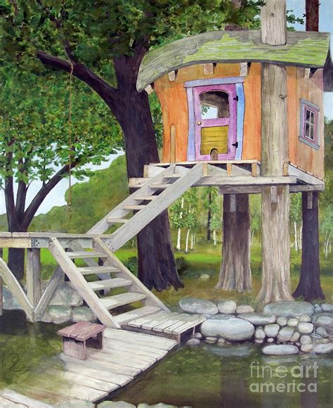 tree house pond by will lewis