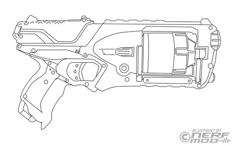 Nerfmod Nerf Strongarm Template By Nerfmod On Deviantart Nerf Coloring Pages