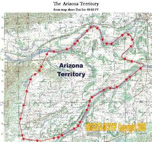 arizona territory map the arizona territory