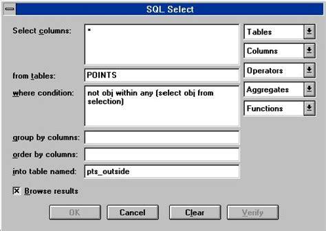 sql select sql select the quot select quot sgsi