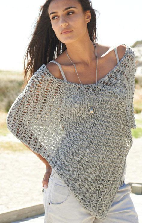stricken sommer sommer poncho stricken stricken poncho