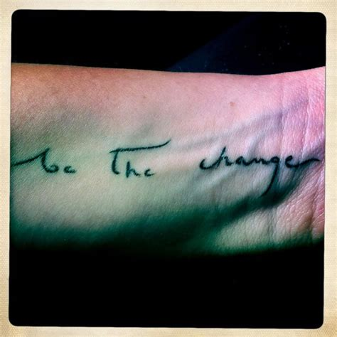 be the change tattoo be the change ink