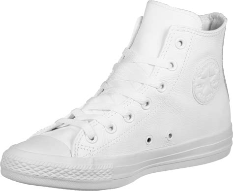 converse all leather shoes white