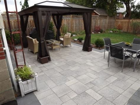 paved patio backyard patio pinterest
