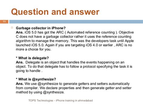 iphone question and answer for fresher