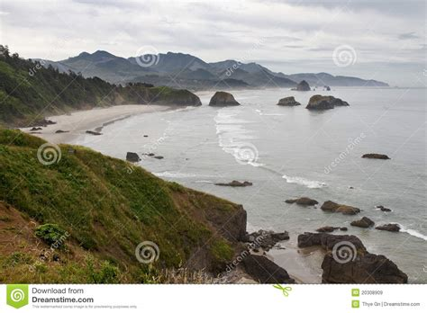 crescent bay at cannon beach oregon coast royalty free