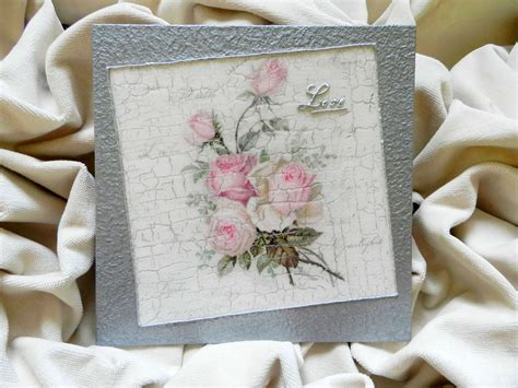 Decoupage Technique Painting Vintage Roses Handmade