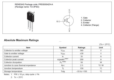 transistor igbt aplicado en electronica de potencia transistor rjp30e2 mosfet igbt potencia 360 v 35 a semiconductor refacciones electronicas