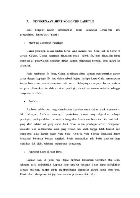 laporan praktikum membuat larutan dengan konsentrasi tertentu laporan praktikum sifat koligatif larutan