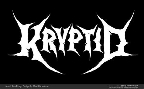 metal logo modblackmoon metal black metal band logo design