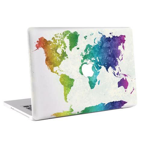 Macbook Deckel Aufkleber by World Map In Watercolor Macbook Skin Decal
