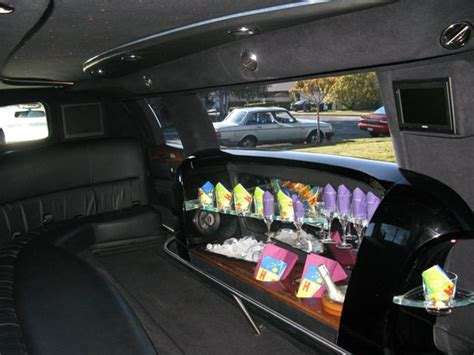inside a limo lincoln town car stretch limousine inside view picture