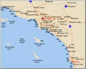 southern california cities map california map