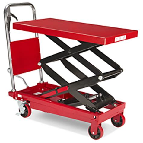 manual lift table scissor 770 lb 36 x 20 quot h 1784