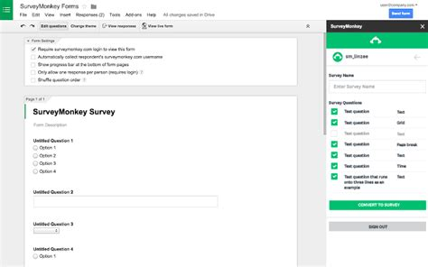 survey monkey template surveymonkey forms add on