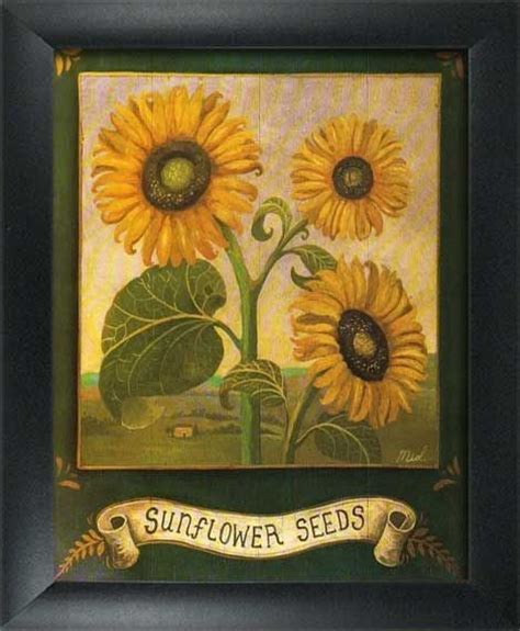 Sunflower Kitchen Accessories by 2 Framed Garden Prints Home Kitchen Wall Decor