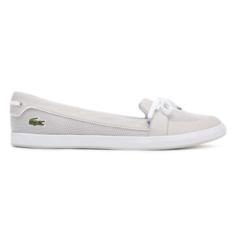 lacoste womens shoes lacoste womens boat shoes blue or grey lancelle 117 1