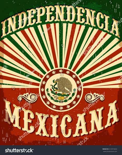 Mexican Address Lookup Independencia Mexicana Mexican Independence Vintage Poster Design Mexican Flag