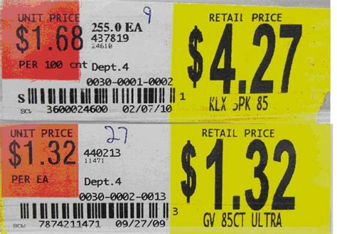 Grocery Store Shelf Labels by Keep More Of Your Pay Check Unit Pricing The