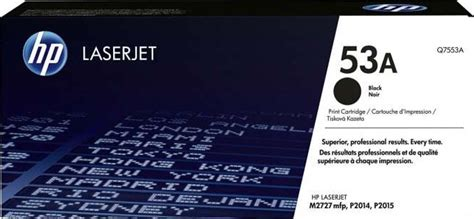 Cartridge World Toner Cartridge Black Hp 53a Q7553a hp 53a black laserjet toner cartridge q7553a buy best