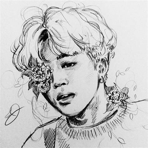 Kpop Sketches by Pin By Sofa On арт Bts Bts Fanart And Kpop
