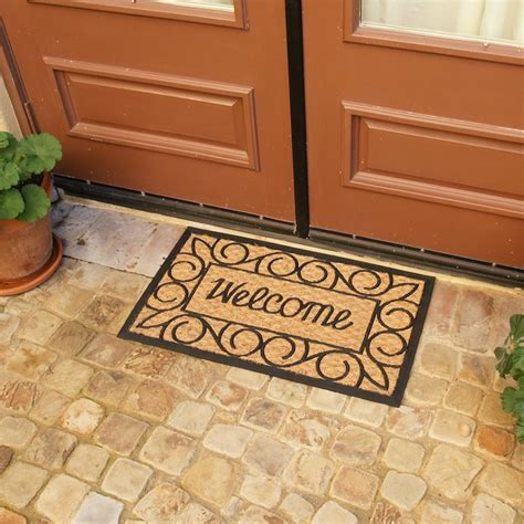 """Welcome Home Again"" Coir Rubber Door Mat"