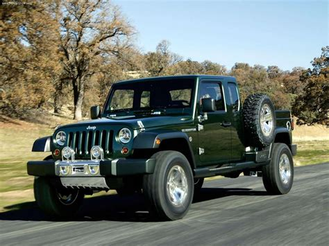 jeep prototype truck 2005 jeep gladiator concept photo gallery autoblog