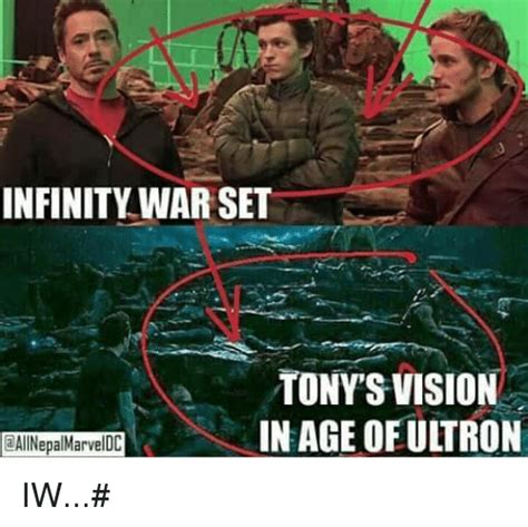 Age Of Memes - infinity war set tony vision in age of ultron