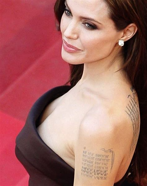 angelina jolie tattoo right forearm celebrity tattoos and its growing craze