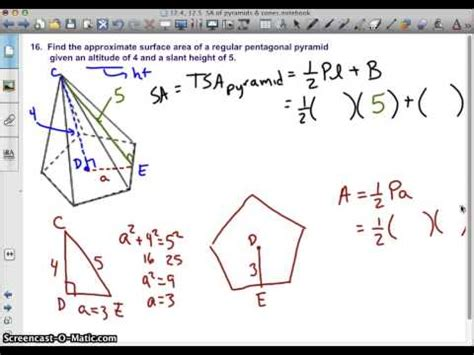 How To Make A Pentagonal Pyramid Out Of Paper - regular pentagonal pyramid surface area