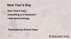 new year s day poem by kobayashi issa poem hunter