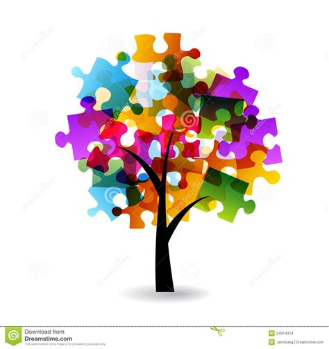 tree puzzles puzzle tree stock images image 24914314