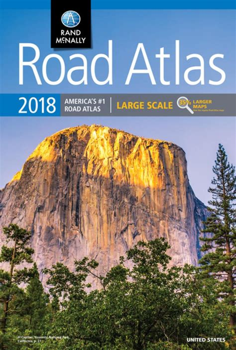 road map usa book large scale road atlas 2018 united states by rand mcnally