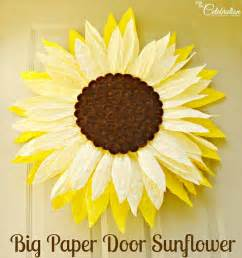 How To Make Paper Sunflowers - big paper twist door flower take two sunflower