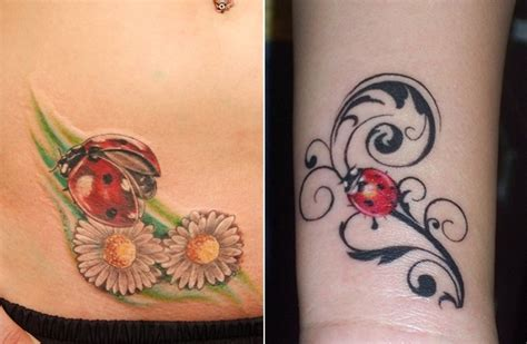 cute ladybug tattoo designs small tattoos for those who like to keep it small and