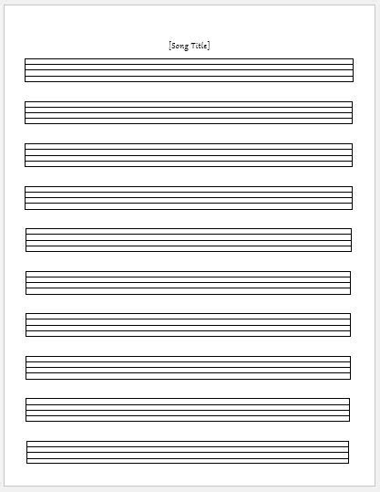 templates for musicians paper sheets for ms word word excel templates