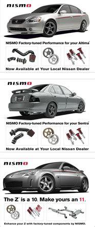 nissan model names nismo 350 z