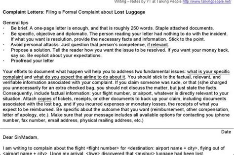 Airline Complaint Letter On Napkin Complaint Letter Templates Free Premium Templates Forms Sles For Jpeg Png