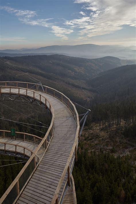 picturesque mountaintop skywalk   czech republic