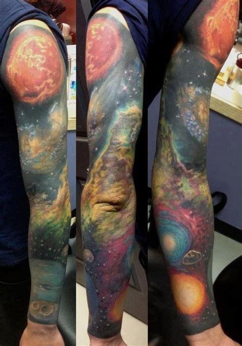 galaxy quarter sleeve tattoo galaxy tattoo full sleeve tattoomagz