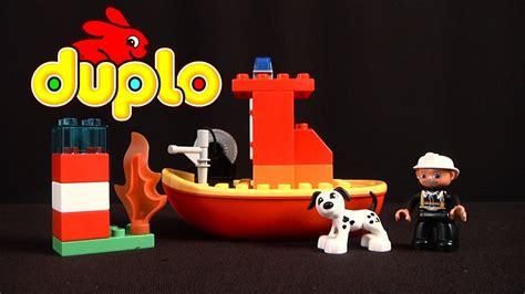 lego boat duplo lego duplo fire boat from lego youtube