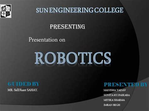 slides for ppt on robotics presentation on robotics authorstream