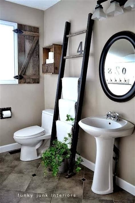 bathroom decorating with old ladder ladders for decorating bathrooms my little sweet house