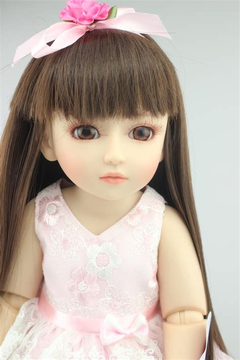 Boneka Princess 45cm New Vinyl Sd Bjd Joint Doll Boneka bjd 1 4tjointed dolls vinyl pink dress