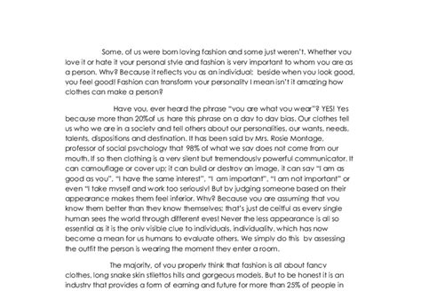 About Clothes Essay by Essay On Fashions Of Today